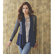gold striped cardigan