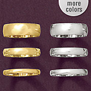 6mm unisex gold band