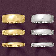 6mm unisex gold band