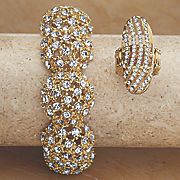 crystal stretch ring 25