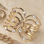 crystal loop hinged bangle