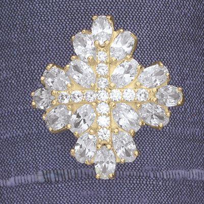 Cubic Zirconia Cluster Ring