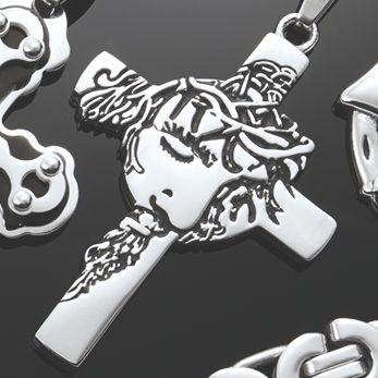 Men's Stainless Steel Face/Cross Jewelry