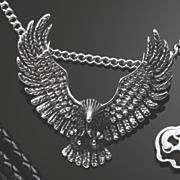 men s stainless steel eagle pendant