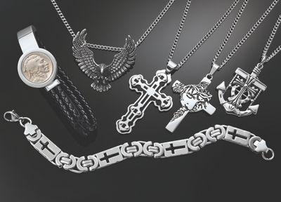 Men's Stainless Steel Cross Bracelet