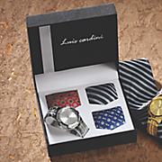 watch and 3 ties set