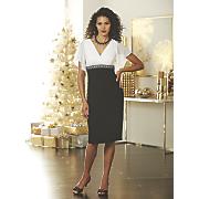 Yolanda Black & White Dress