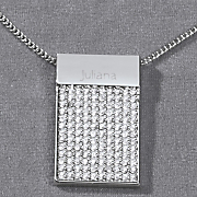 personalized pave crystal pendant
