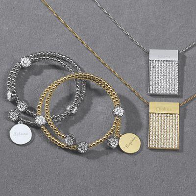 Personalized Pavé Crystal Jewelry