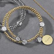 personalized pave crystal bracelet
