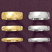 4mm unisex gold band