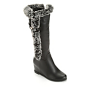 women s fuzzy accent boot by midnight velvet