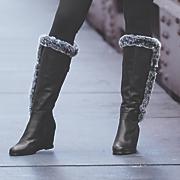 Women's Fuzzy Accent Boot by Midnight Velvet