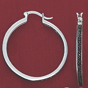 black diamond in out round hoops