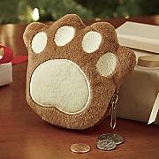 pawprint coin purse