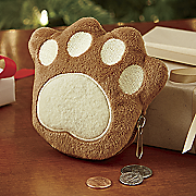pawprint coin purse