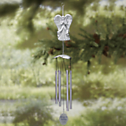 personalized memorial angel wind chime