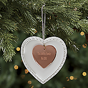 personalized heart ornament