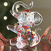 glass elephant figurine