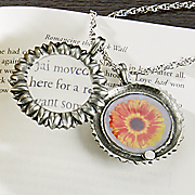 sunflower magnifying necklace