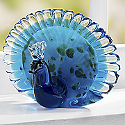 glass peacock figurine