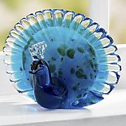 glass peacock figurine