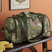 personalized camo duffle bag