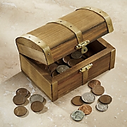 treasure box with coins