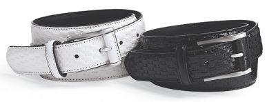 Men's Basket Weave Leather Belt by Stacy Adams
