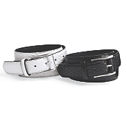 men s basket weave leather belt by stacy adams