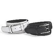men s basket weave leather belt by stacy adams
