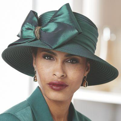 Satin Bow Hat