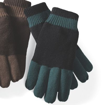 Men's Colorblock Knit Glove with Thinsulate Lining