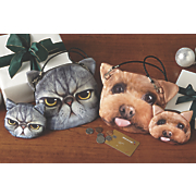 Animal Face Purse and Coin Pouch Set