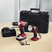 cordless drill   worklight set by montgomery ward