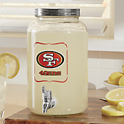 nfl 3 liter glass beverage dispenser