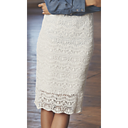trace of lace pencil skirt
