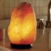 amber himalayan salt lamp