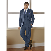 men s blue 3 pc  suit