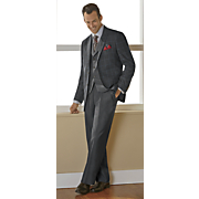 men s gray 3 pc  suit