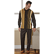 men s brown 2 pc  remix set