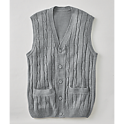 Gray Sweater Vest by Cotton Traders