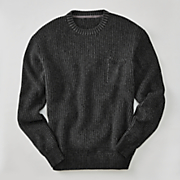black crew neck sweater by cotton traders