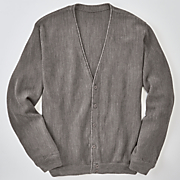 Men's Long-Sleeve Button-Up Cardigan by Cotton Traders