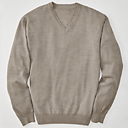 long sleeve merino wool sweater by cotton traders