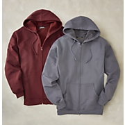 men s long sleeve full zip fleece hoodie by cotton traders