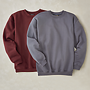 men s long sleeve fleece crew neck by cotton traders