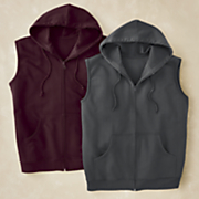 men s sleeveless fleece hoodie by cotton traders