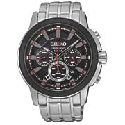 men s solar chrono black dial watch by seiko