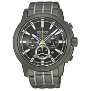men s solar chrono gunmetal gray watch by seiko